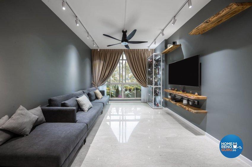 Industrial, Modern Design - Living Room - Condominium - Design by Swiss Interior Design Pte Ltd