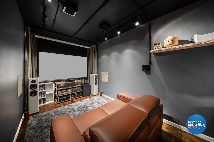 Industrial, Modern Design - Entertainment Room - Condominium - Design by Swiss Interior Design Pte Ltd