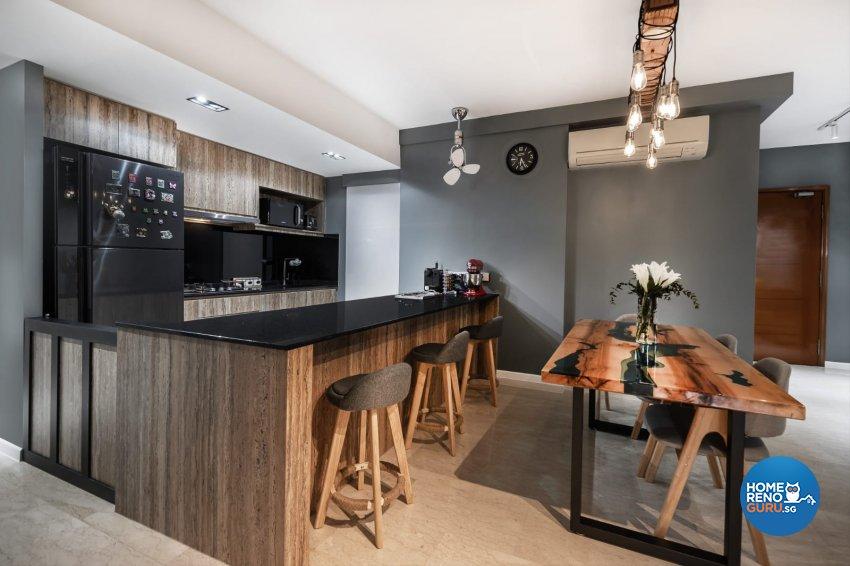Industrial, Modern Design - Kitchen - Condominium - Design by Swiss Interior Design Pte Ltd