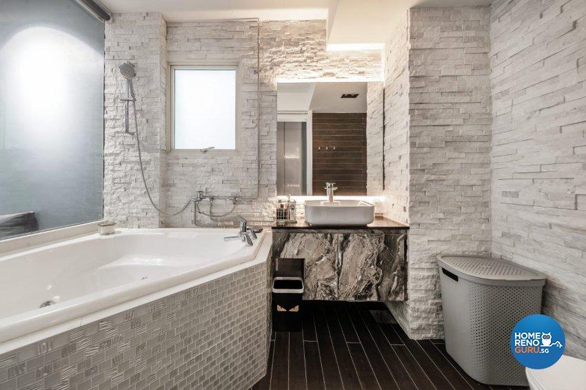Industrial, Modern Design - Bathroom - Condominium - Design by Swiss Interior Design Pte Ltd