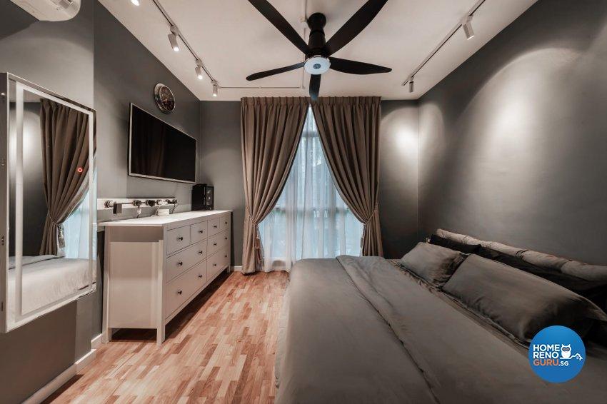 Industrial, Modern Design - Bedroom - Condominium - Design by Swiss Interior Design Pte Ltd