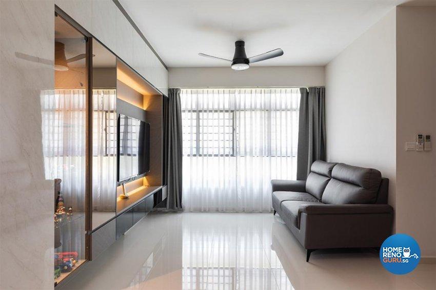 Modern Design - Living Room - HDB 4 Room - Design by Swiss Interior Design Pte Ltd