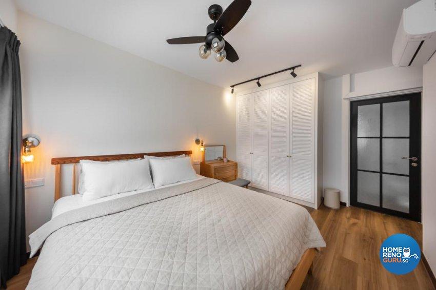 Industrial Design - Bedroom - HDB 4 Room - Design by Swiss Interior Design Pte Ltd