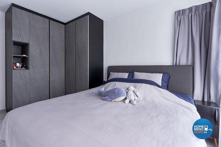 Contemporary Design - Bedroom - HDB 4 Room - Design by Swiss Interior Design Pte Ltd