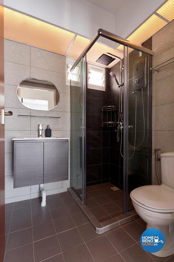 Contemporary Design - Bathroom - HDB 4 Room - Design by Swiss Interior Design Pte Ltd
