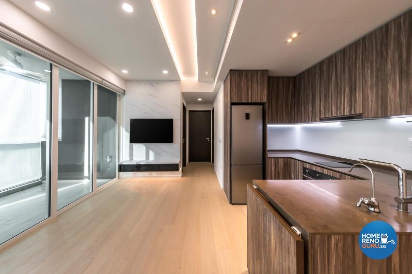 Minimalist Design - Kitchen - Condominium - Design by Swiss Interior Design Pte Ltd