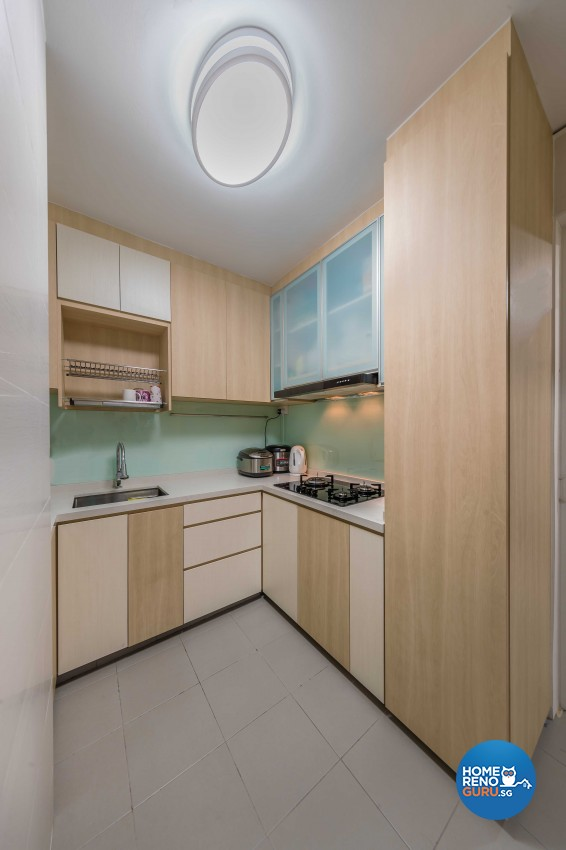 Scandinavian Design - Kitchen - HDB 5 Room - Design by Swiss Interior Design Pte Ltd
