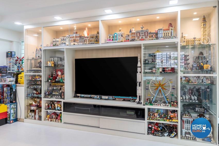 Scandinavian Design - Living Room - HDB 5 Room - Design by Swiss Interior Design Pte Ltd