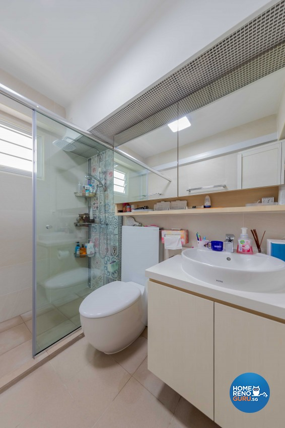 Scandinavian Design - Bathroom - HDB 5 Room - Design by Swiss Interior Design Pte Ltd