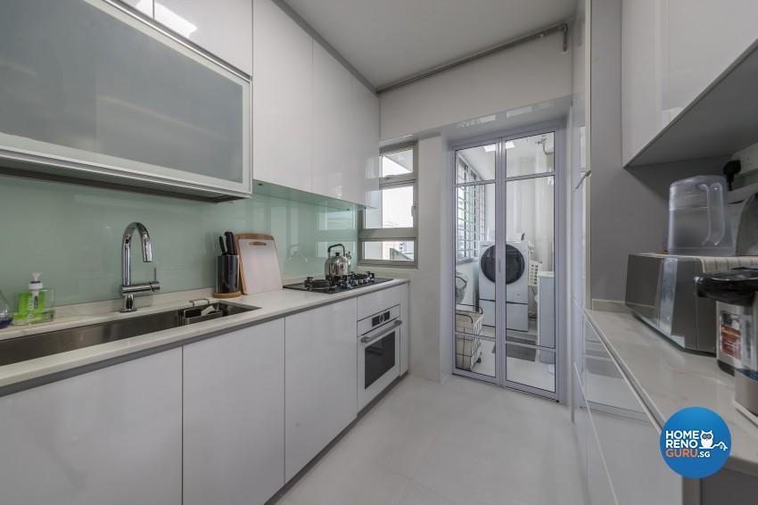 Modern Design - Kitchen - HDB 4 Room - Design by Swiss Interior Design Pte Ltd