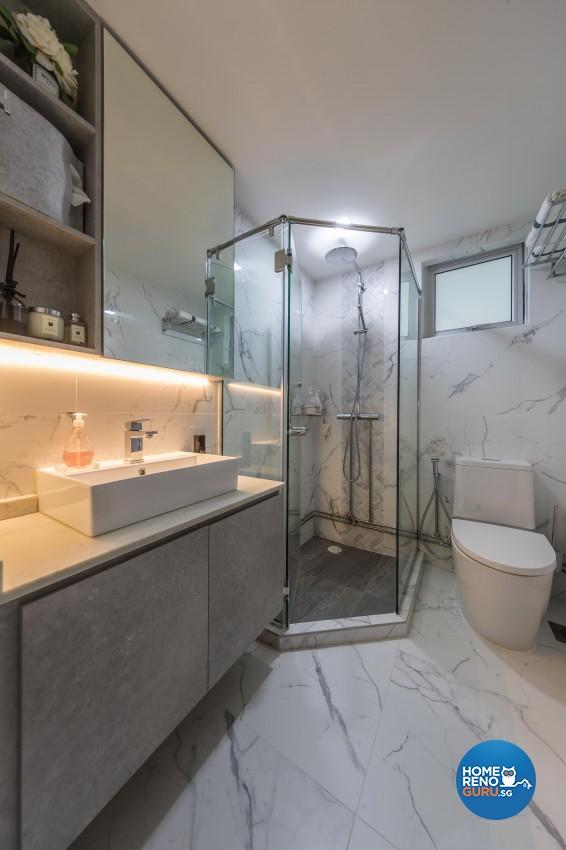 Modern Design - Bathroom - HDB 4 Room - Design by Swiss Interior Design Pte Ltd