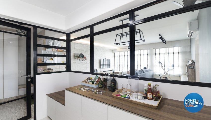 Scandinavian Design - Kitchen - HDB 5 Room - Design by Swiss Interior Design Pte Ltd