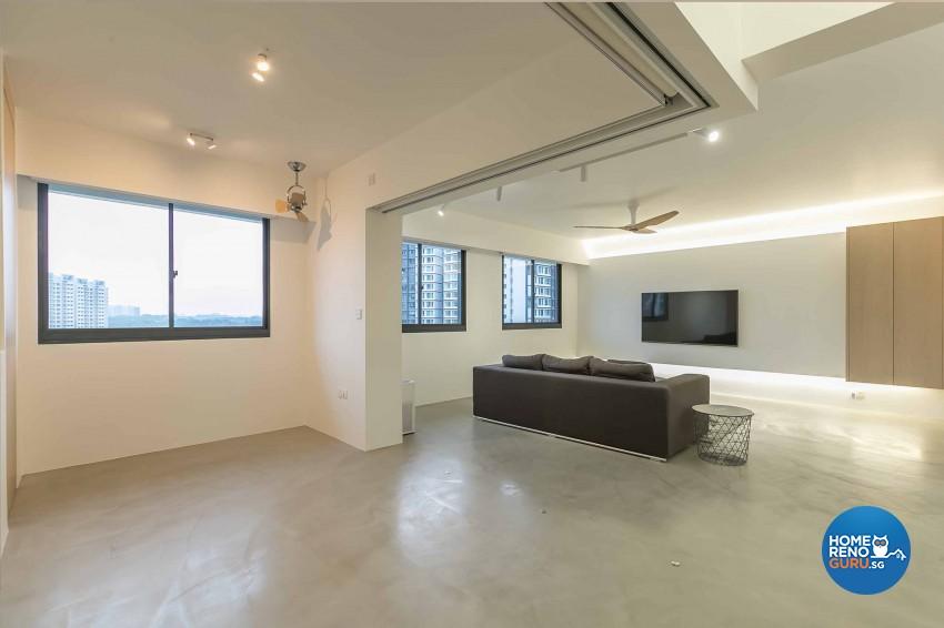 Minimalist Design - Living Room - HDB 5 Room - Design by Swiss Interior Design Pte Ltd