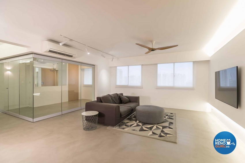 Minimalist Design - Living Room - HDB 5 Room - Design by Swiss Interior Design Pte Ltd