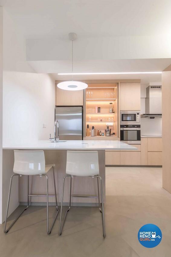 Minimalist Design - Dining Room - HDB 5 Room - Design by Swiss Interior Design Pte Ltd