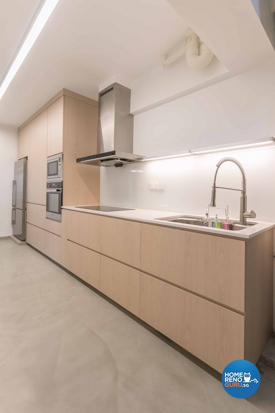Minimalist Design - Kitchen - HDB 5 Room - Design by Swiss Interior Design Pte Ltd