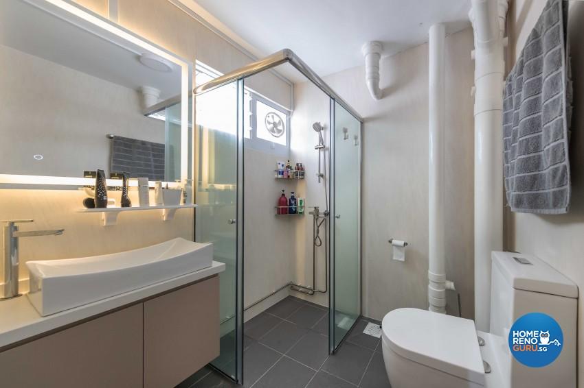 Contemporary, Scandinavian Design - Bathroom - HDB 5 Room - Design by Swiss Interior Design Pte Ltd