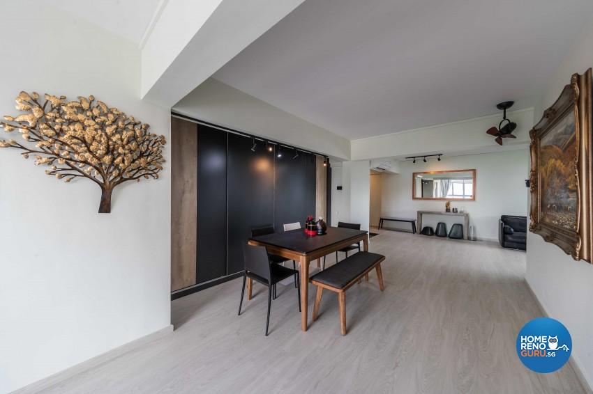 Contemporary, Scandinavian Design - Dining Room - HDB 5 Room - Design by Swiss Interior Design Pte Ltd