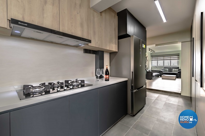 Contemporary, Scandinavian Design - Kitchen - HDB 5 Room - Design by Swiss Interior Design Pte Ltd
