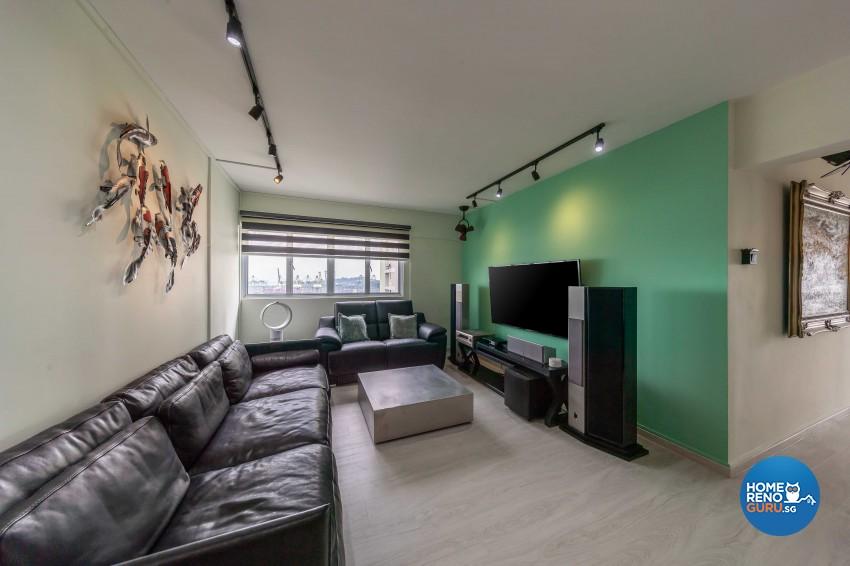 Contemporary, Scandinavian Design - Living Room - HDB 5 Room - Design by Swiss Interior Design Pte Ltd