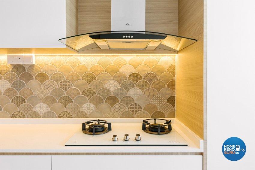 Retro Design - Kitchen - HDB 4 Room - Design by Swiss Interior Design Pte Ltd