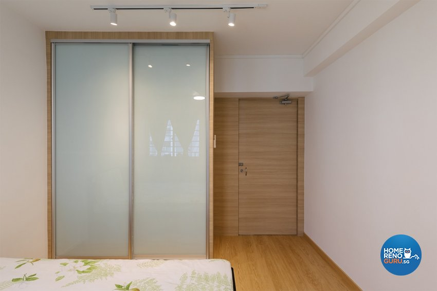 Retro Design - Bedroom - HDB 4 Room - Design by Swiss Interior Design Pte Ltd