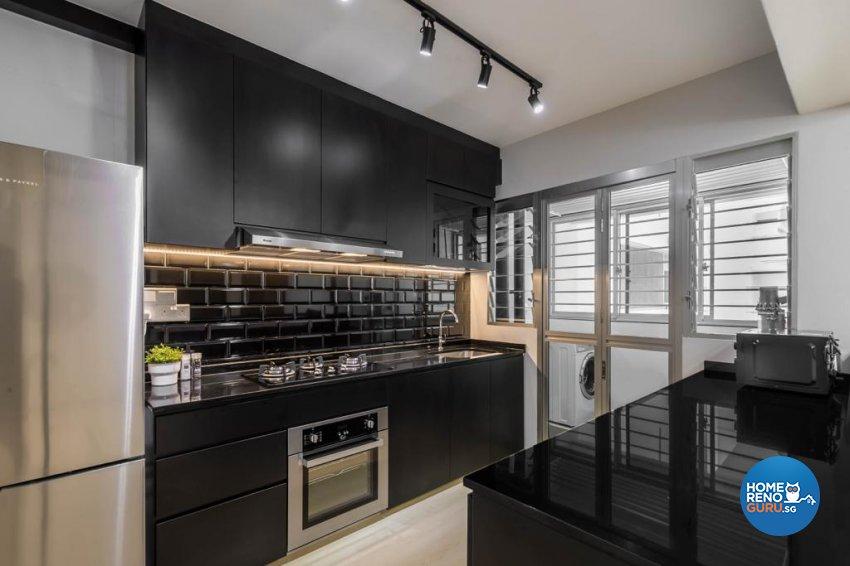 Modern, Scandinavian Design - Kitchen - HDB 4 Room - Design by Swiss Interior Design Pte Ltd