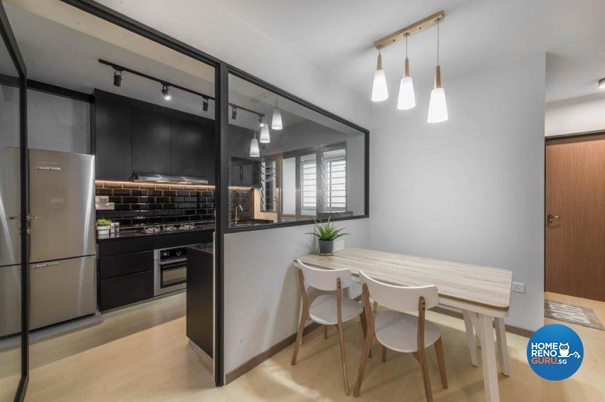 Modern, Scandinavian Design - Dining Room - HDB 4 Room - Design by Swiss Interior Design Pte Ltd