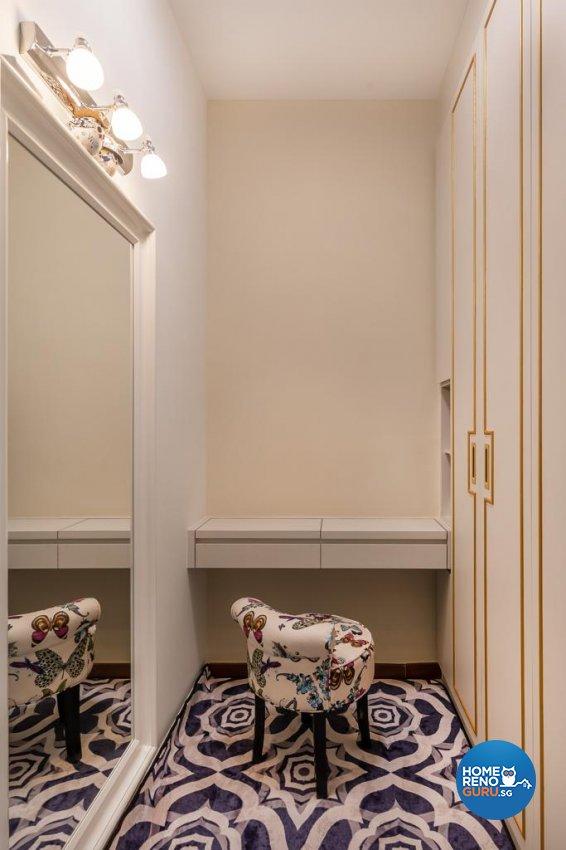 Victorian Design - Bedroom - HDB 4 Room - Design by Swiss Interior Design Pte Ltd