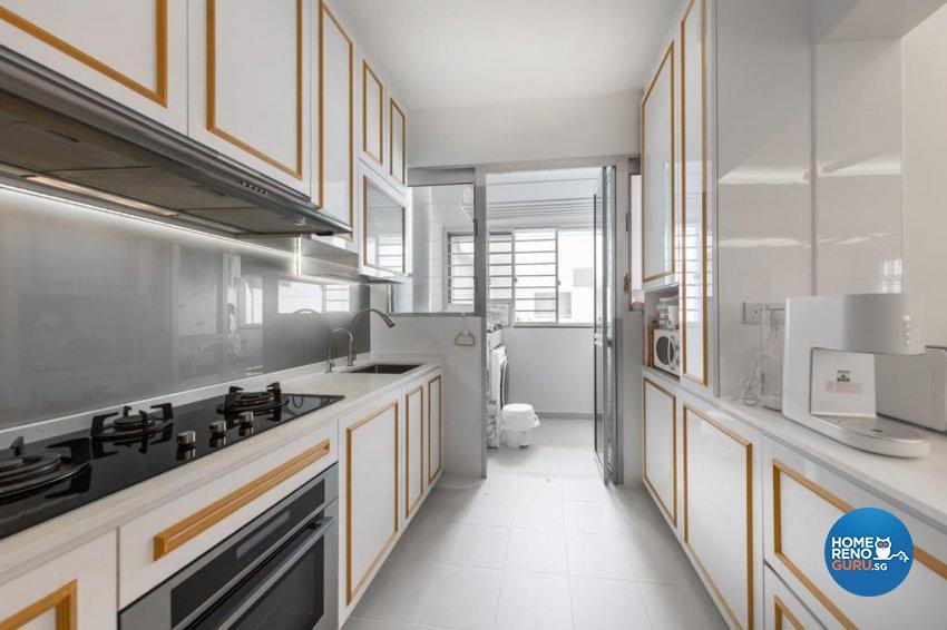 Victorian Design - Kitchen - HDB 4 Room - Design by Swiss Interior Design Pte Ltd