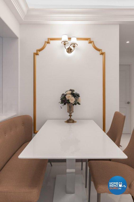 Victorian Design - Dining Room - HDB 4 Room - Design by Swiss Interior Design Pte Ltd