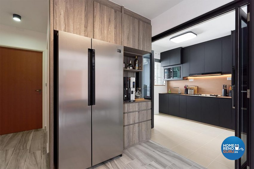 Industrial, Modern Design - Kitchen - HDB 4 Room - Design by Swiss Interior Design Pte Ltd