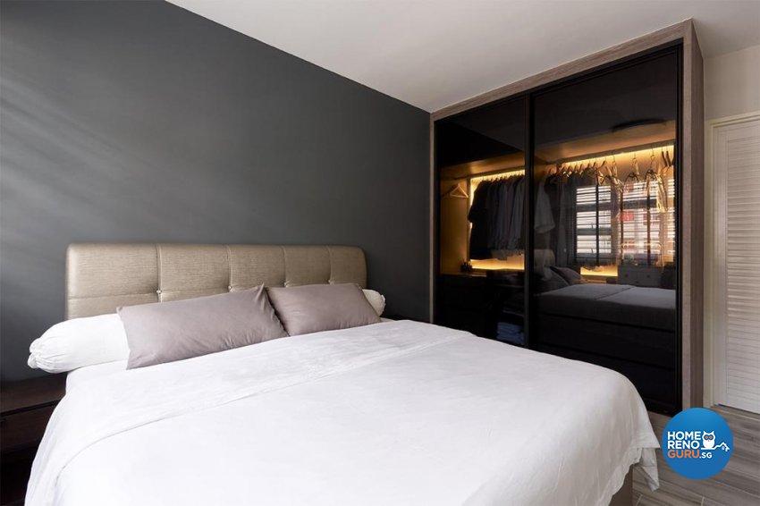 Industrial, Modern Design - Bedroom - HDB 4 Room - Design by Swiss Interior Design Pte Ltd