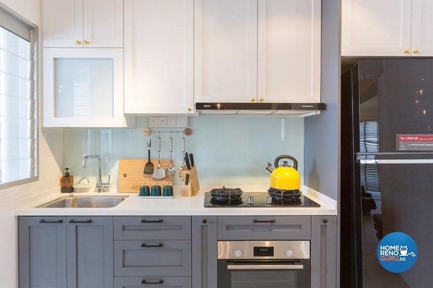 Contemporary Design - Kitchen - HDB 4 Room - Design by Swiss Interior Design Pte Ltd