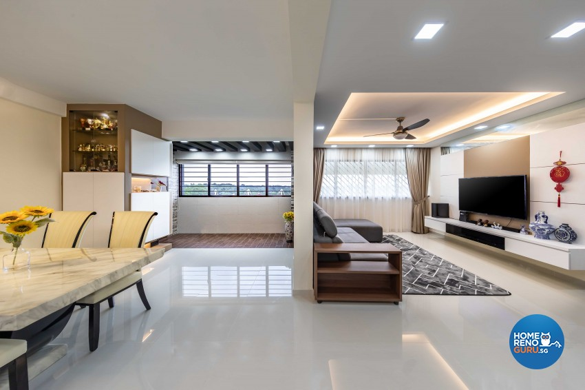 Modern, Scandinavian Design - Living Room - HDB 5 Room - Design by Swiss Interior Design Pte Ltd