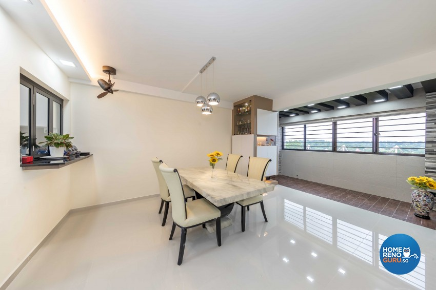 Modern, Scandinavian Design - Dining Room - HDB 5 Room - Design by Swiss Interior Design Pte Ltd