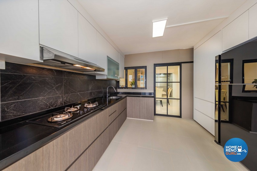 Modern, Scandinavian Design - Kitchen - HDB 5 Room - Design by Swiss Interior Design Pte Ltd