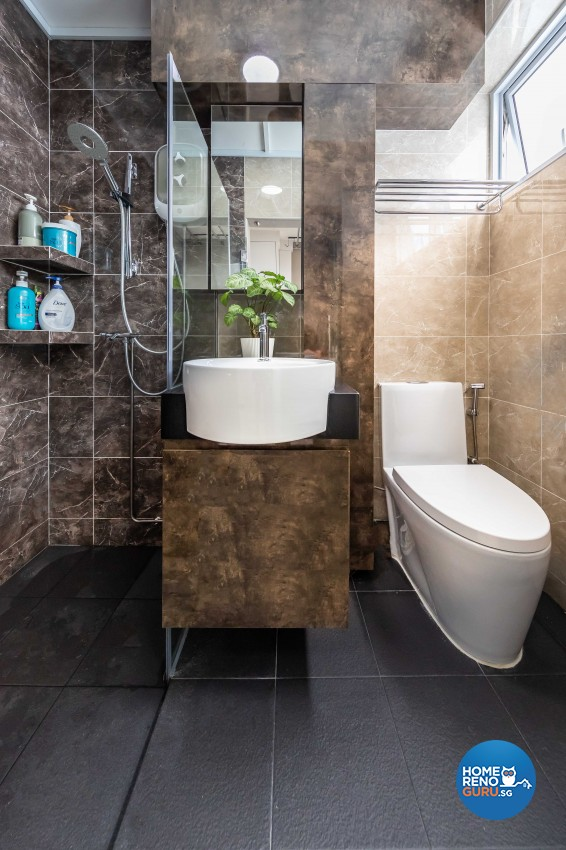 Modern, Scandinavian Design - Bathroom - HDB 5 Room - Design by Swiss Interior Design Pte Ltd