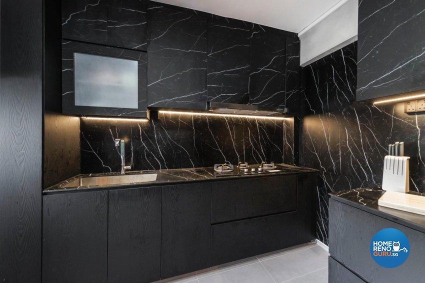 Contemporary, Modern Design - Kitchen - HDB 4 Room - Design by Swiss Interior Design Pte Ltd