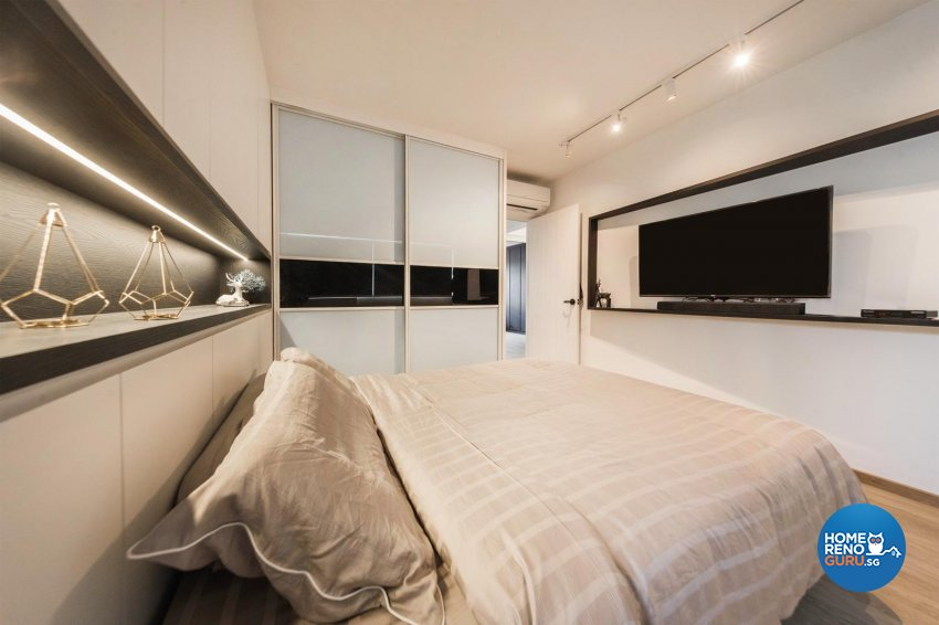 Contemporary, Modern Design - Bedroom - HDB 4 Room - Design by Swiss Interior Design Pte Ltd