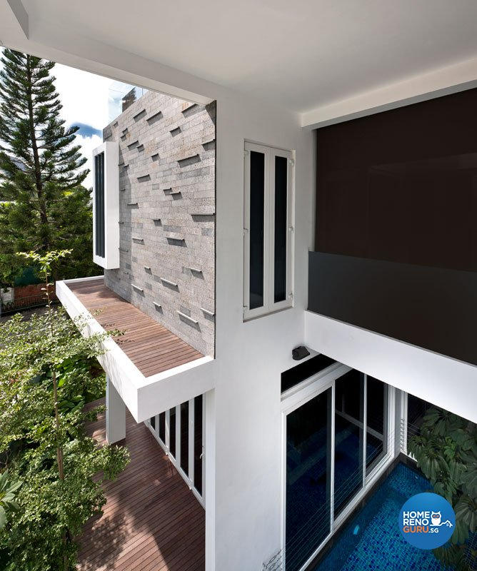 Contemporary, Modern Design - Balcony - Landed House - Design by Taims Interior Pte Ltd