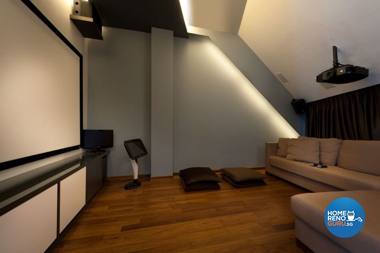 Contemporary, Modern Design - Entertainment Room - Landed House - Design by Taims Interior Pte Ltd