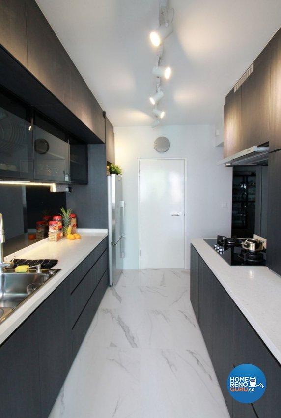 Contemporary, Minimalist Design - Kitchen - HDB 4 Room - Design by Takeji Design Pte. Ltd.