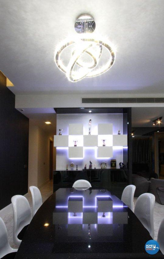 Modern, Resort, Tropical Design - Dining Room - Condominium - Design by Takeji Design Pte. Ltd.