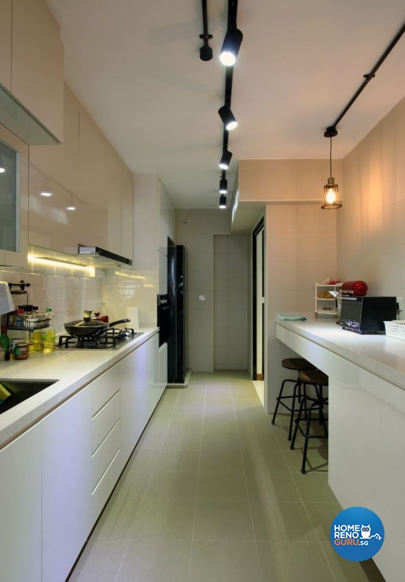 Industrial, Scandinavian Design - Kitchen - HDB 5 Room - Design by Takeji Design Pte. Ltd.