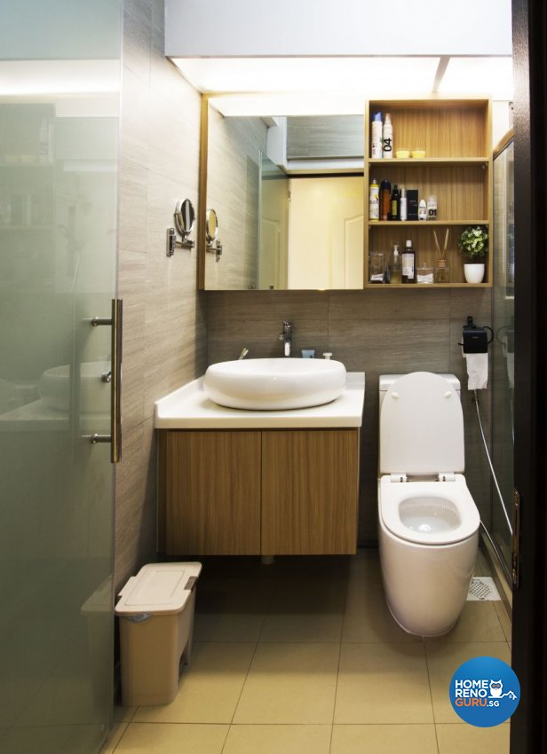Industrial, Scandinavian Design - Bathroom - HDB 5 Room - Design by Takeji Design Pte. Ltd.