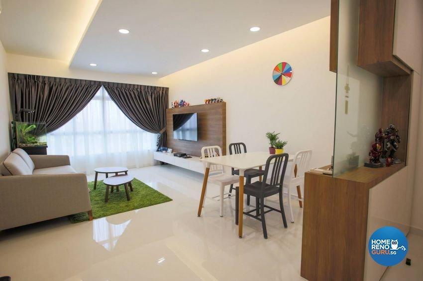 Minimalist, Modern, Scandinavian Design - Living Room - HDB Executive Apartment - Design by ted iD Pte Ltd