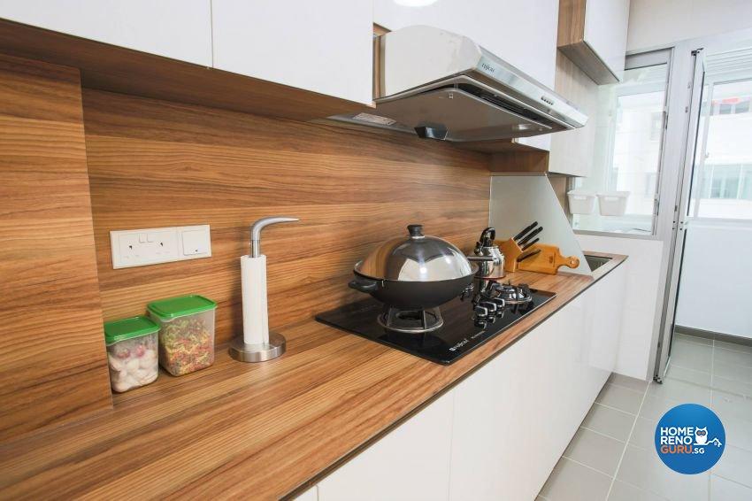 Minimalist, Modern, Scandinavian Design - Kitchen - HDB Executive Apartment - Design by ted iD Pte Ltd