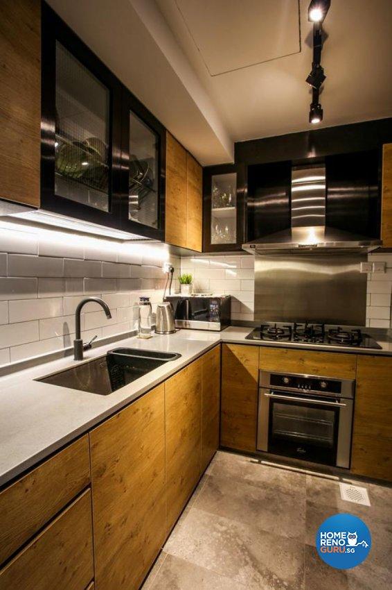 Industrial, Scandinavian Design - Kitchen - Condominium - Design by ted iD Pte Ltd