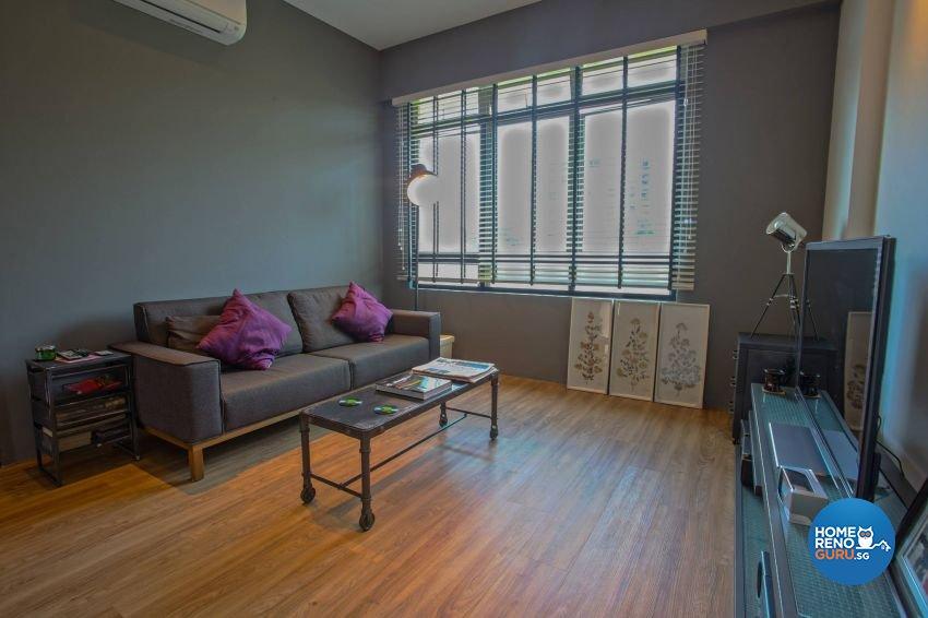 Industrial, Scandinavian Design - Living Room - Condominium - Design by ted iD Pte Ltd